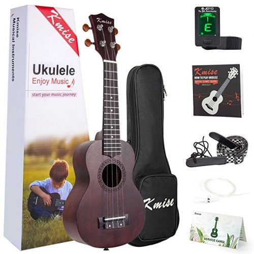 Ukulele Soprano Mahogany 21 Inch Ukelele Uke With Beginner Kit ( Gig Bag Tuner Strap String Instruction Booklet ) - Ukuleles For Beginners