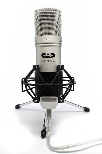 CAD GXL2400 USB Microphone for Recording Podcast and Gaming with Shock Mount