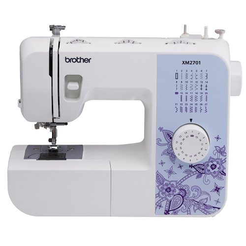 Brother XM2701 Lightweight, Full-Featured Sewing Machine with 27 Stitches, 1-Step Auto-Size Buttonholer, 6 Sewing Feet, and Instructional DVD - Sewing Machines
