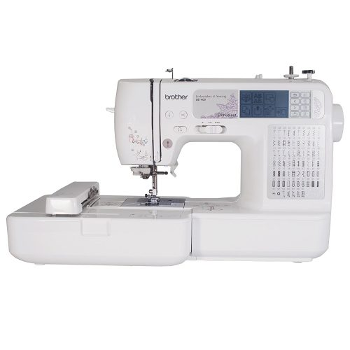 Brother SE400 Combination Computerized Sewing and 4x4 Embroidery Machine With 67 Built-in Stitches, 70 Built-in Designs, 5 Lettering Fonts - Sewing Machines