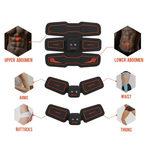 Electronic Abdominal Muscles Stimulator Vibration Pad & Belt System HURRISE Wireless Abs Muscle EMS Training Gear Toning for Abdomen Home Office Body Fitness Workout Equipment