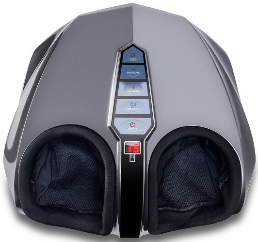 Miko Shiatsu Foot Massager With Deep-Kneading, Multi-Level Settings, And Switchable Heat Charcoal Grey - Foot Massagers