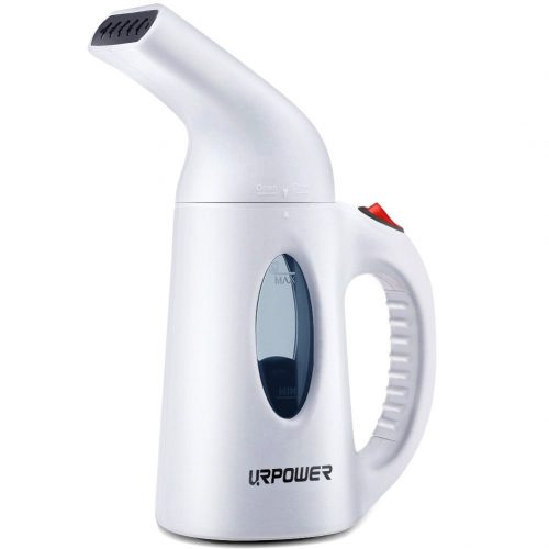 URPOWER Garment Steamer 130ml Portable Handheld Fabric Steamer Fast Heat-up Powerful Travel Garment Clothes Steamer with High Capacity for Home and Travel, Travel Pouch Included - Handheld Fabric Steamers