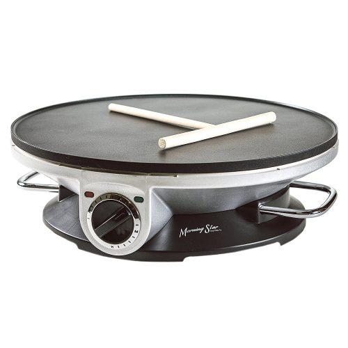 Morning Star - Crepe Maker Pro - 13 Inch Crepe Maker & Electric Griddle - Non-stick Pancake Maker - Crepe Makers