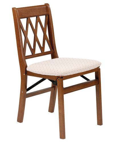 Stakmore Lattice Back Folding Chair Finish, Set of 2, Fruitwood - Wooden Folding Chairs