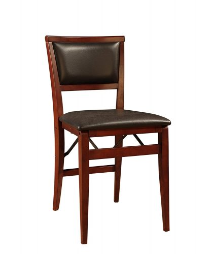 Linon Keira Pad Folding Chair, Set of 2 - Wooden Folding Chairs