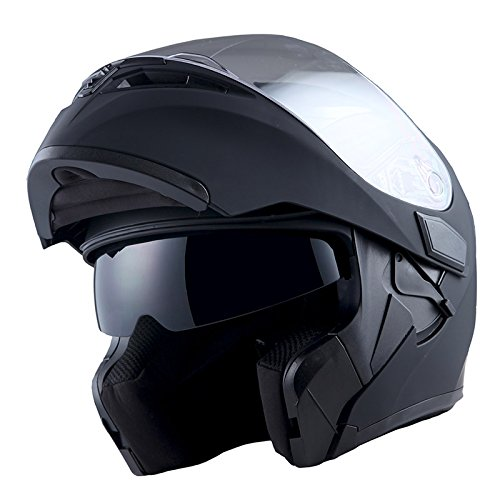 1Storm Motorcycle Modular Full Face Helmet Flip up Dual Visor Sun Shield: