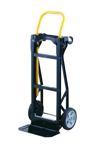 Harper Trucks Lightweight 400 lb Capacity Glass Filled Nylon Plastic Convertible Hand Truck and Dolly