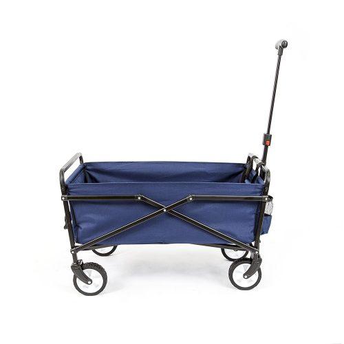 YSC Wagon Garden Folding Utility Shopping Cart, Beach (Black)
