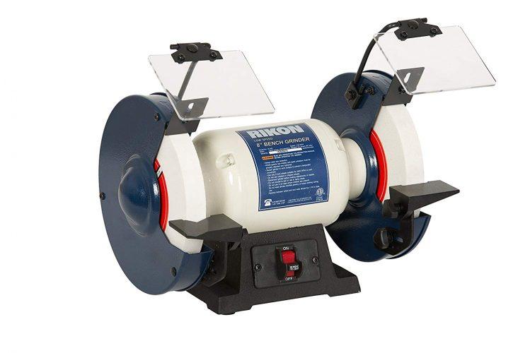 "RIKON Power Tools 80-805 8"" Slow Speed Bench Grinder,"