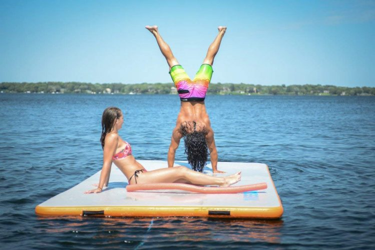 Mission Boat Gear REEF Mat Inflatable Floating Dock Water Lounge