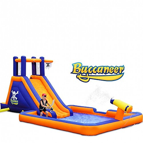 Blast Zone Buccaneer Inflatable Water Park - Inflatable Pool Slides