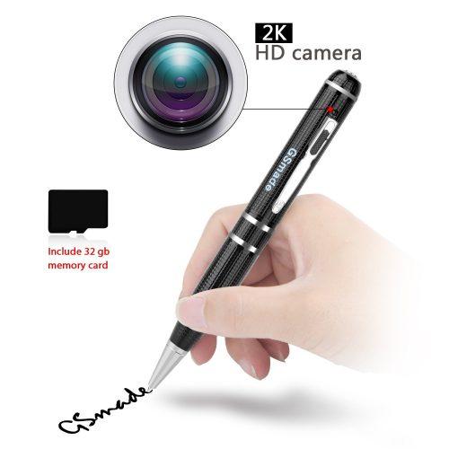Hidden Spy Camera- Star Light Night Vision Pen Full HD 1296P Video Recording Pen Hidden Security Camera 1PCS With 32gb Memory Card Video Camcorder Inspection Mini Video Spy Gadgets Motion Detector