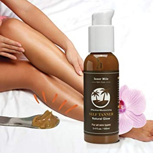 Self Tanner Sunless Tanning Lotion - Natural Healthy Beautiful Golden Glow for Body & Face, Gradual & Even Buildable Bronzer, Light Medium or Dark - Tanning Bed Lotions