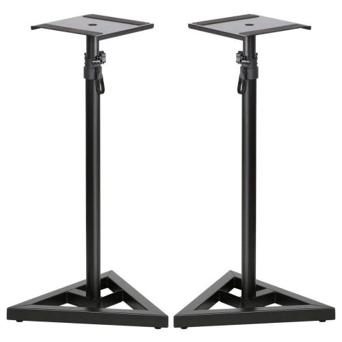 Topeakmart 2 Pcs Speaker Stands Adjustable Monitor Metal Set Speaker Triangle Pair Steel Stands - Speaker Stands