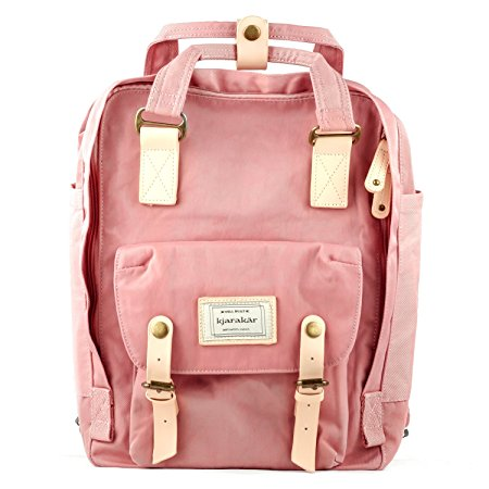 Kjarakär Vintage Backpack School book bag Best Laptop Bag Weekender Satchel Diaper Bag Water Resistant