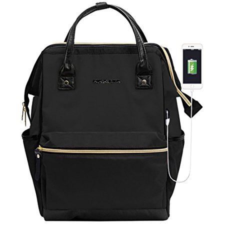 KROSER Laptop Backpack 15.6 Inch Laptop Bag Casual Daypack Water Repellent Nylon Briefcase Business Bag Tablet With USB Port