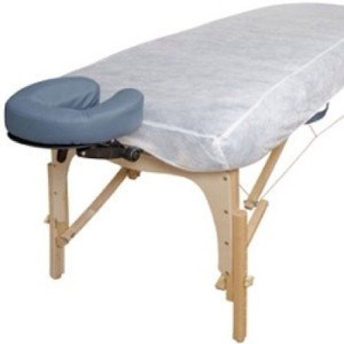 10 Ct. White Disposable Elastic Fitted Bed Sheets Cover Massage Table Facial Chair Spa - Massage Tables Sheet Cover