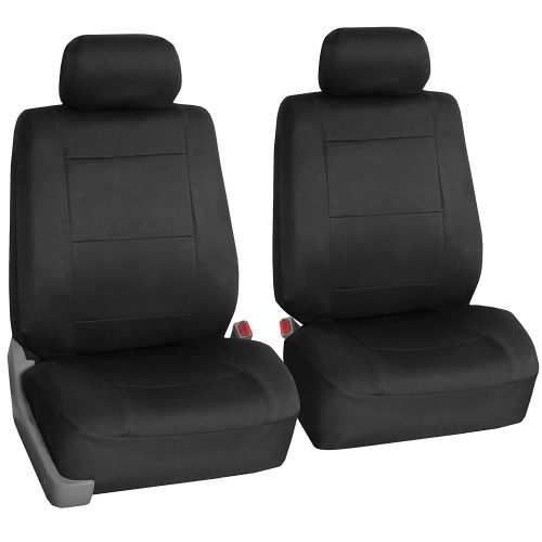 FH Group FH-FB083102 Neoprene Waterproof Car Seat Covers, Pair Set Buckets Airbag Ready (Black)