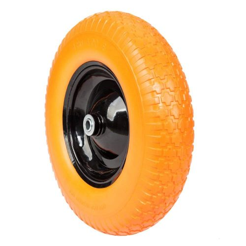 FCH Anti Flat Replacement Ribbed Wheel for Wheelbarrow 16 Inch No Flat Tire 5/8 Axle Cart Wagon - Wheelbarrow Wheels