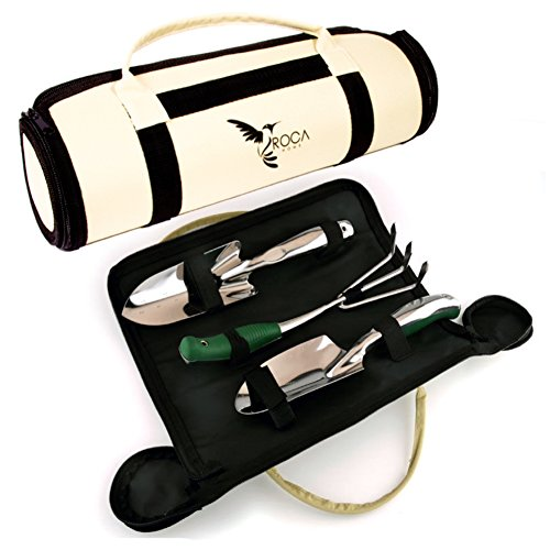 Garden Tools Sets - Gardening Tools with Garden Tools Carry Bag by ROCA.