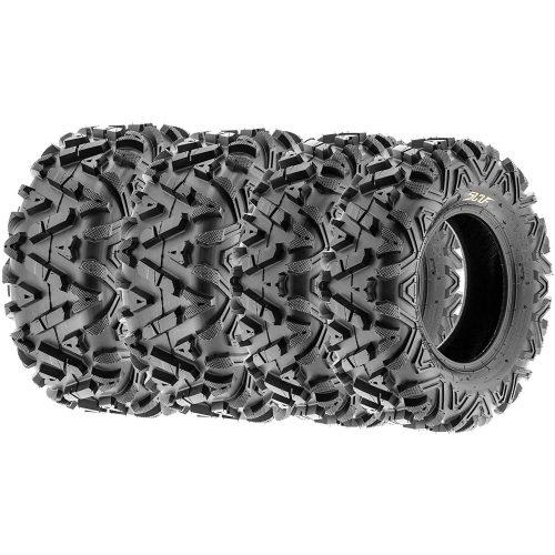 SunF ALL TERRAIN ATV UTV 6 Ply Race Tires 25x8-12 & 25x11-10 Tubeless A033 POWER I, [Set of 4]