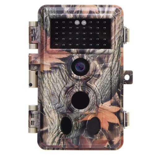"opu Trail Camera 16MP 1080P No Glow Night Vision, Game Camera with 2.4"" LCD 120° PIR Sensors, Hunting Camera 0.2s Trigger Speed, Wildlife Camera IP66"