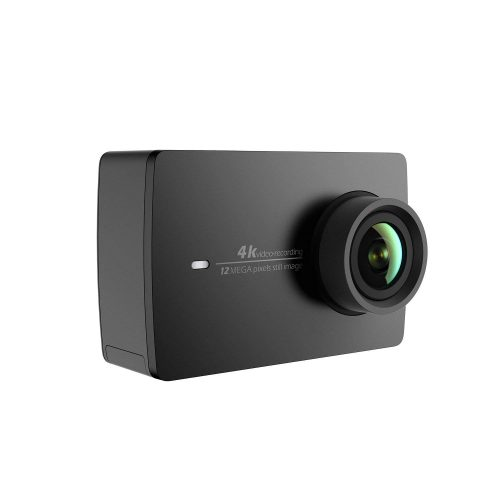 YI 4K Action and Sports Camera, 4K/30fps Video 12MP Raw Image with EIS, Live Stream, Voice Control - Black