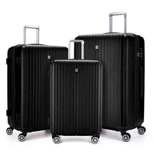 3 Piece Luggage sets Lightweight Durable Spinner Suitcase 20in24in28in - Lightweight luggage