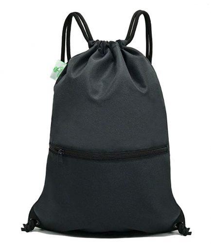 HOLYLUCK Men & Women Sport Gym Sack Drawstring Backpack Bag (White, Purple, Burgundy,Black,Navy Blue,Red,Blue) - Drawstring Bags