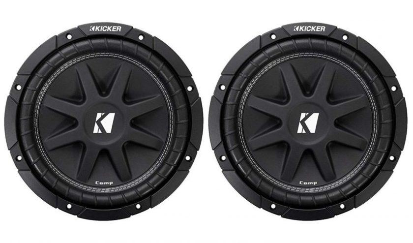 Kicker 10C104 Comp 10-Inch Subwoofer 4 Ohm (Black) - Subwoofers