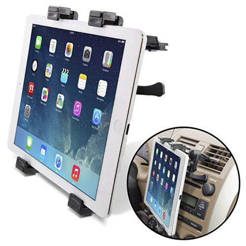 """Okra Universal Tablet Air Vent Car Mount Holder with 360 Rotating swivel compatible w/ Apple iPad, Samsung Galaxy Tab, and all Tablet Devices 5"""" to 11"""" (Retail Packaging) - Ipad Car Mounts"""