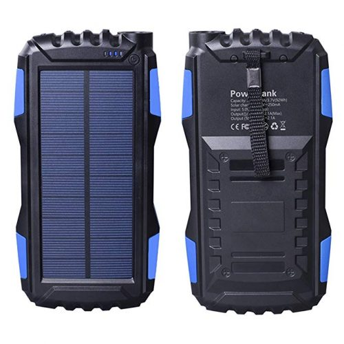 Solar Charger, Friengood Portable 25000mAh Solar Power Bank - Solar Power Banks