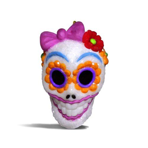 "Hallmark Keepsake Halloween Decor Mini Ornament 2018 Year Dated, Sugar Skull Gal Miniature, 1"""