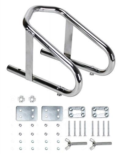 Extreme Max 5001.5763 Deluxe Chrome Motorcycle Wheel Chock - Motorcycle Wheel Chock