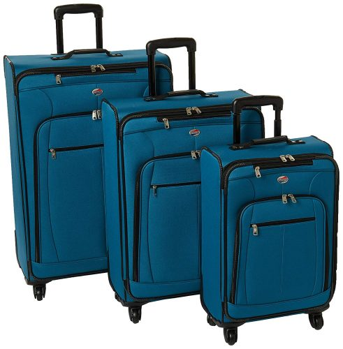 American Tourister At Pops Plus 3 Piece Nested Set, Moroccan Blue - luggage sets