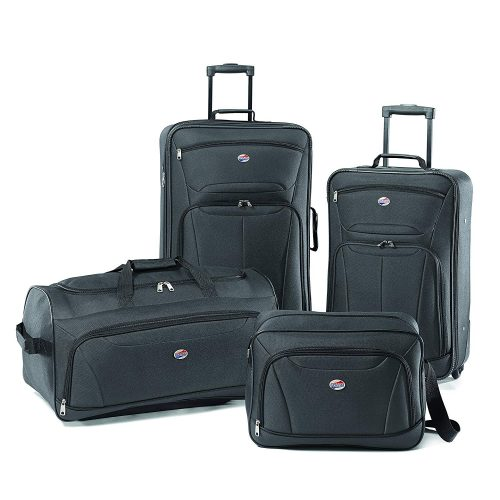 American Tourister Luggage Fieldbrook II 4 Piece Set, Charcoal - luggage sets