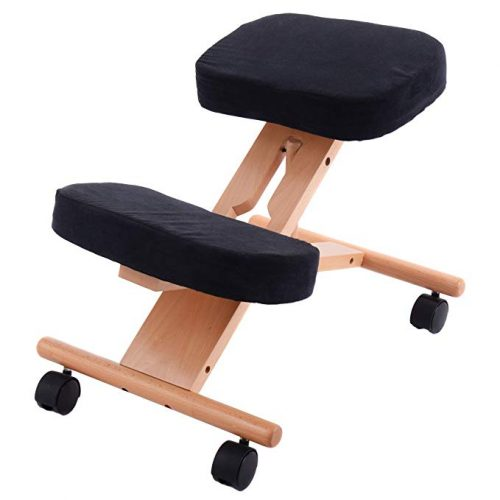 Giantex Ergonomic Kneeling Chair Wooden - Ergonomic Kneeling Chairs