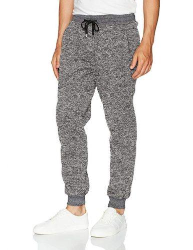 Southpole Men's Basic Fleece Marled Jogger Pant - Sweatpants for Men