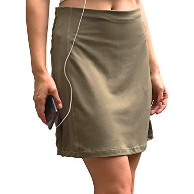 Sport-it Skirt, Mid-Length Skirt Shorts with Side and Waistband Pockets, Tummy Control