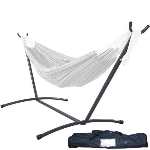Lazy Daze Hammocks 9 feet Space-Saving Steel Hammock Stand Portable Hammock Stand with Carrying Bag Only, Capacity 450 Pounds