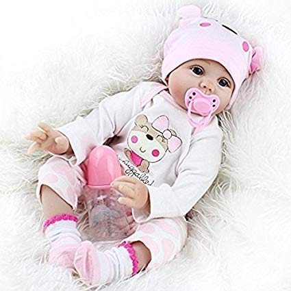 Yesteria Real Looking Reborn Baby Dolls Girl Silicone Pink Outfit 22 Inches