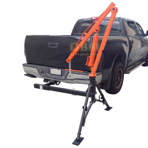 Hydraulic Hitch Mounted Truck Crane Hoist Lift 1000 LBs Capacity - truck cranes