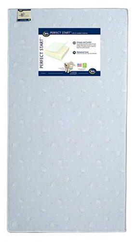 Serta Perfect Start Fiber Core Crib and Toddler Mattress | Waterproof | Lightweight - crib mattress