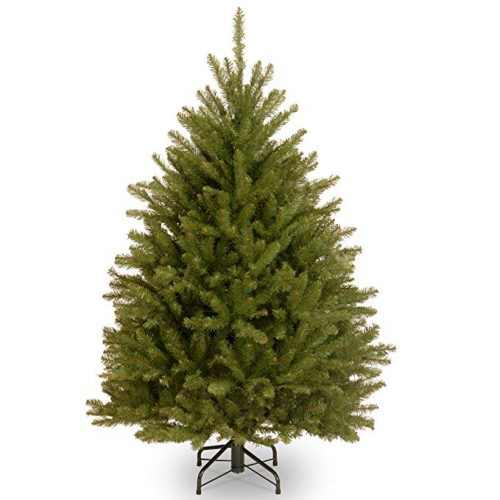 National Tree 4.5 Foot Dunhill Fir Tree, Hinged - Artificial Christmas Trees