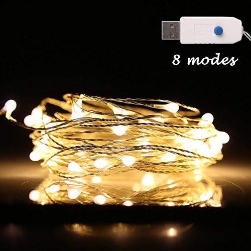 Ehome 100 LED 33ft/10m Starry Fairy String Light - LED String Lights for Christmas