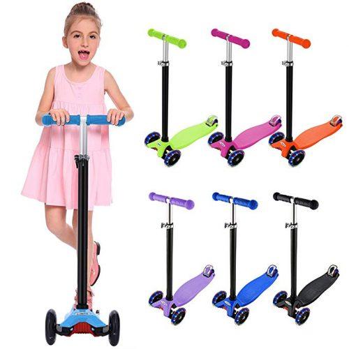 eSkate Kick Scooter for Kids 3 Wheels - 3 Wheel Scooters