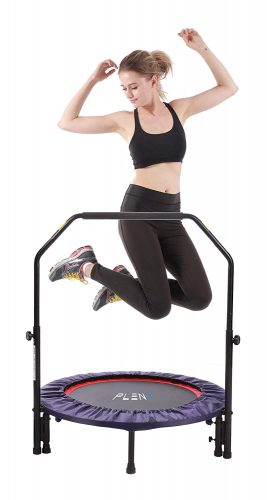 "PLENY 38"" Mini Fitness Trampoline Handle Bar"