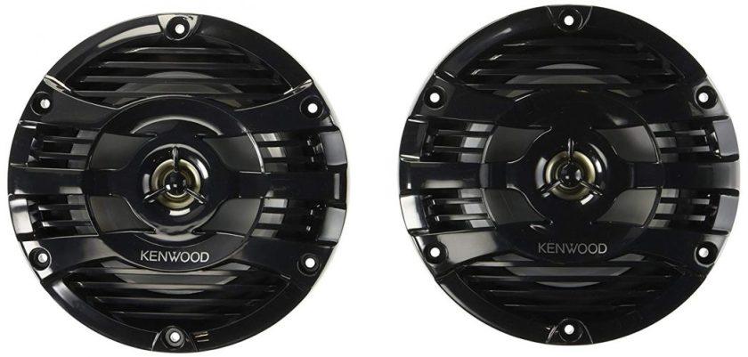 """Kenwood 6.5"""" Black Marine 2 Way Speakers 150 Watts - marine speakers"""