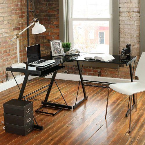 Walker Edison 3-Piece Contemporary Desk, Multi